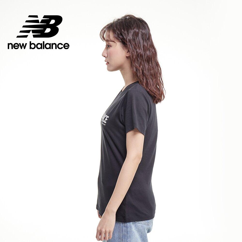 【New Balance】SPEED 品牌字樣短袖Tee_女性_黑色_AWT03511BK