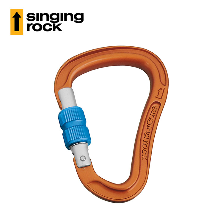 Singing Rock HMS鋁鉤螺母款BORA K0107EE (橘色) / 城市綠洲 (捷克品牌、攀岩、鋁合金鉤環)
