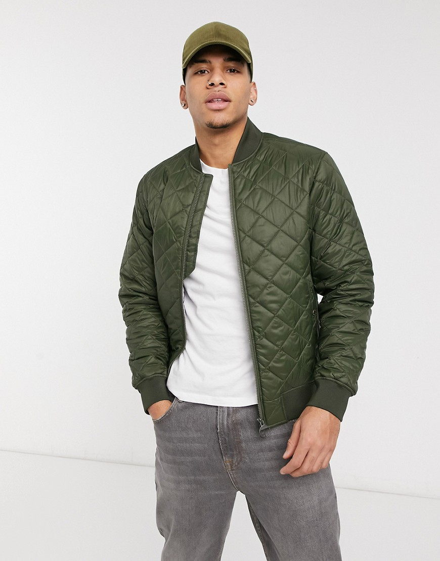 Barbour Gabble quilt jacket in olive-Green
