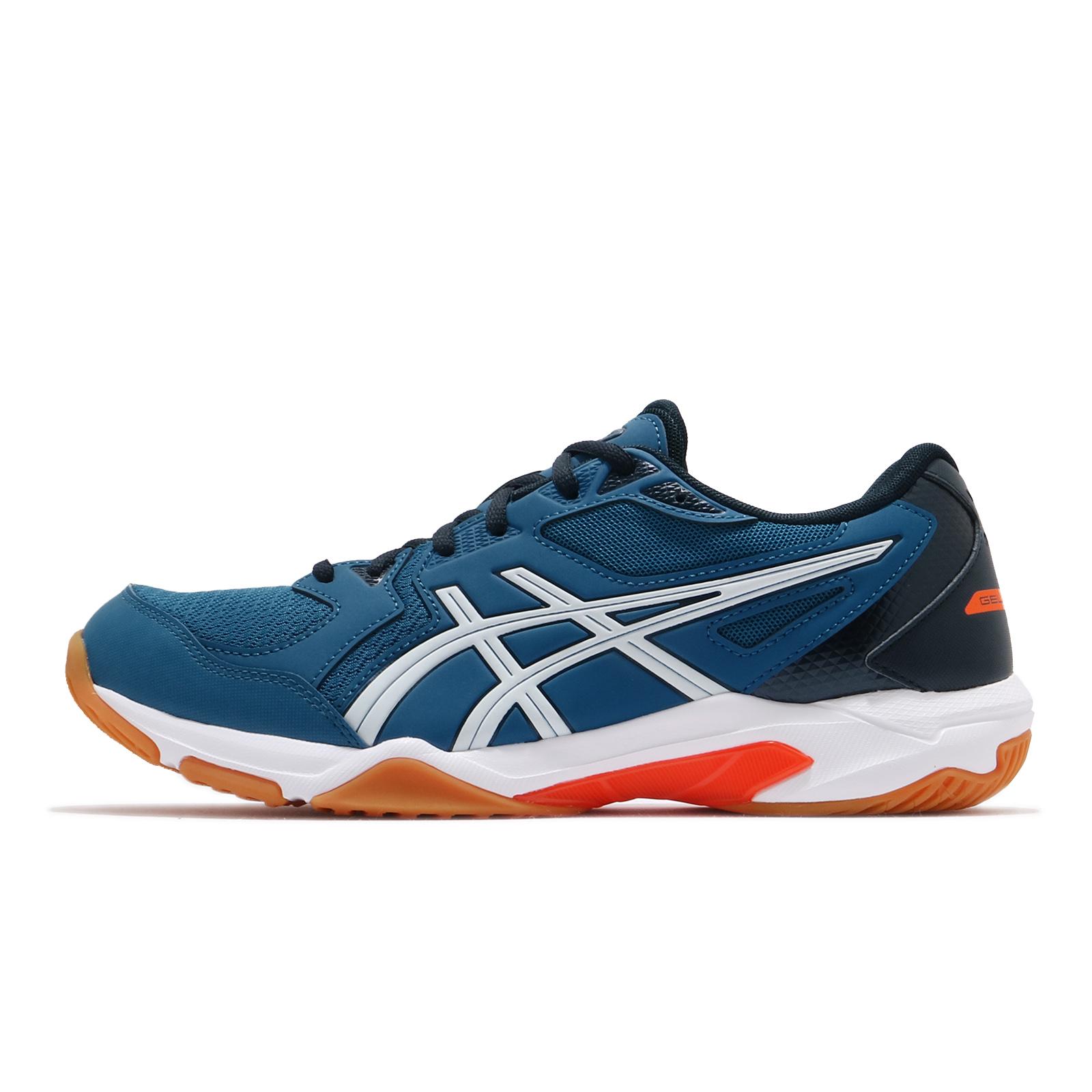 Asics 排球鞋 Gel-Rocket 10 男 藍 橘 膠底 羽球 室內運動鞋 【ACS】 1071A054-401