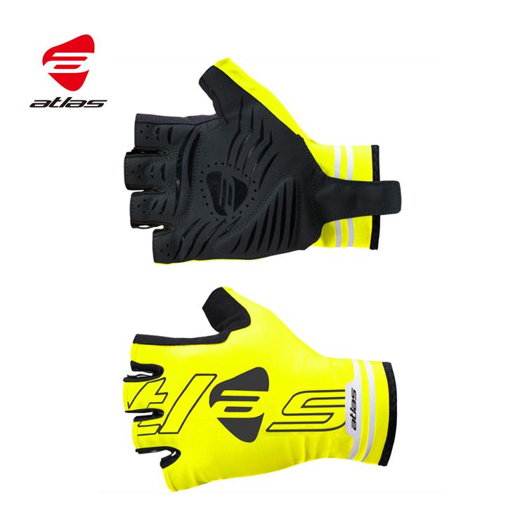 ATLAS 夏季競速短指手套 AG-506-Y 黃色