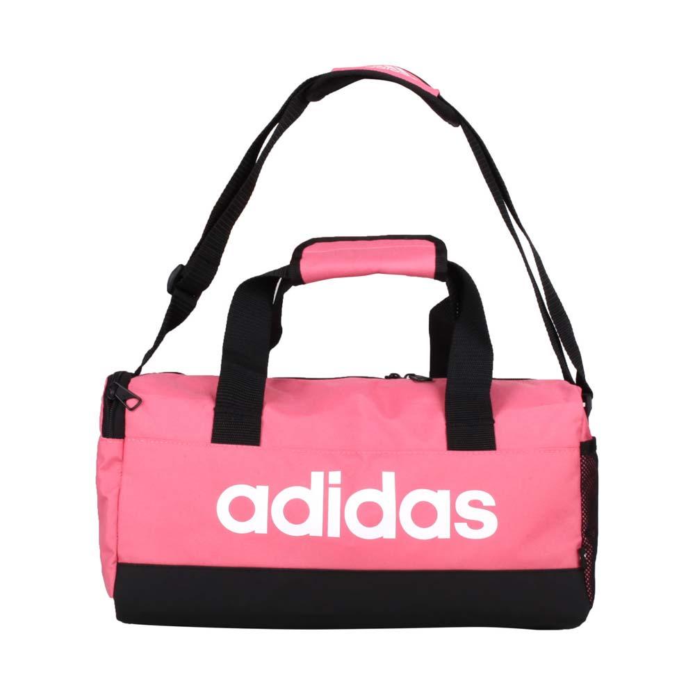 ADIDAS 小型圓筒包-側背包 裝備袋 手提包 肩背包 14L 愛迪達 莓紅白 F