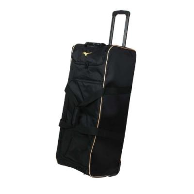 MIZUNO 拖輪袋-台灣製 行李袋 其它裝備袋 92.6L 美津濃 1FTD0X1809 黑金