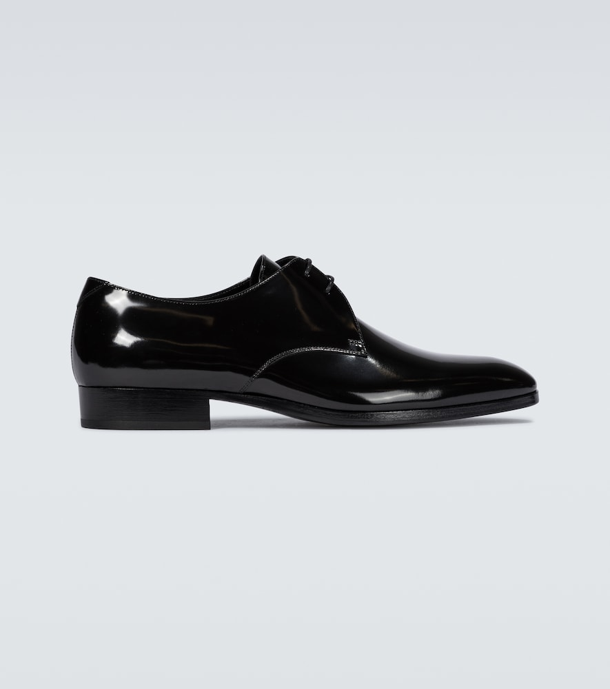 Wyatt patent leather Derby shoes