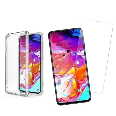 [買保護貼送手機殼] 三星 A70 非滿版 手機 9H鋼化玻璃保護貼 (三星A70保護貼 三星A70鋼化膜 )