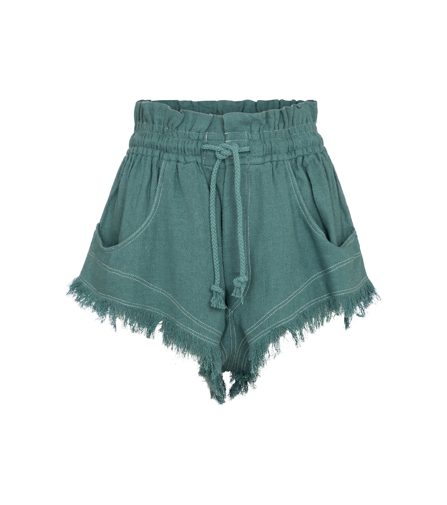 Talapiz high-rise silk shorts