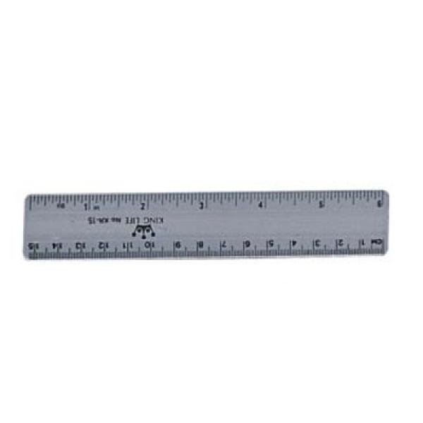 K.L 塑膠直尺 NO.KR-15 15CM