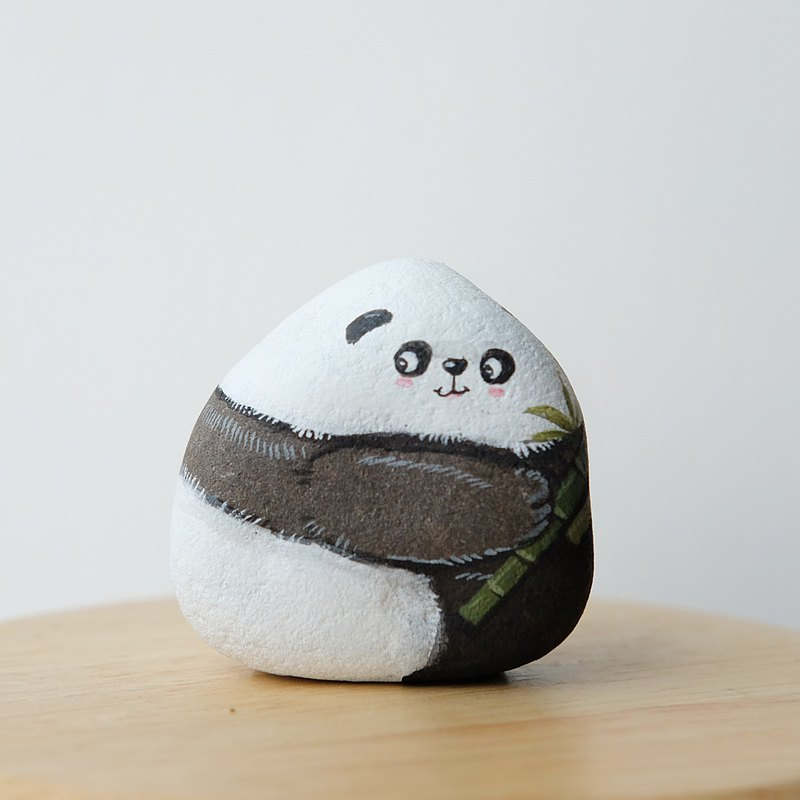 ChowChow狗 石頭繪畫,手工製作的禮物