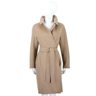 Max Mara-'S Max Mara DORACI 駝色純羊毛綁帶大衣 外套