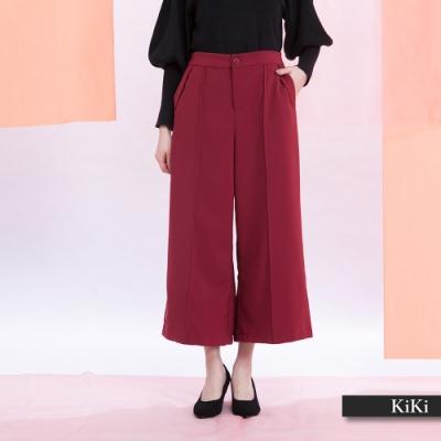 【KiKi】上班族優雅寬鬆-長褲(二色/版型適中)