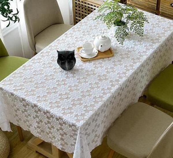 桌布 茶幾桌布蕾絲餐桌布長方形布藝臺布歐式圓家用小清新桌布棉麻蓋布【快速出貨八折優惠】