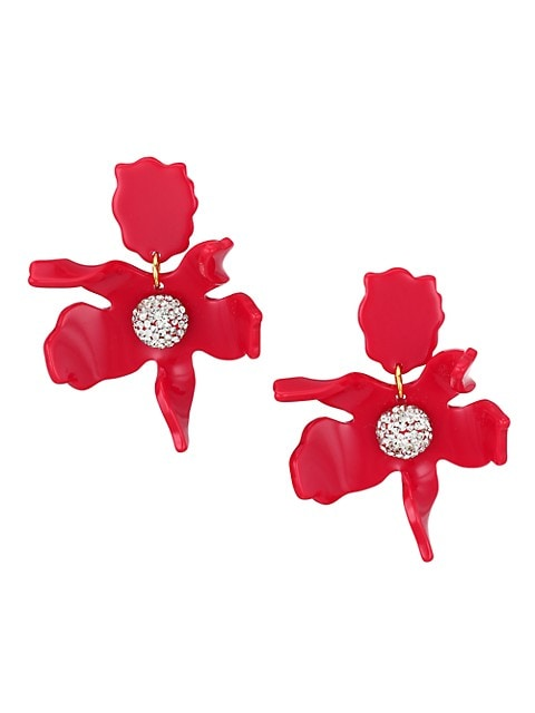 Crystal Lily Small Drop Earrings