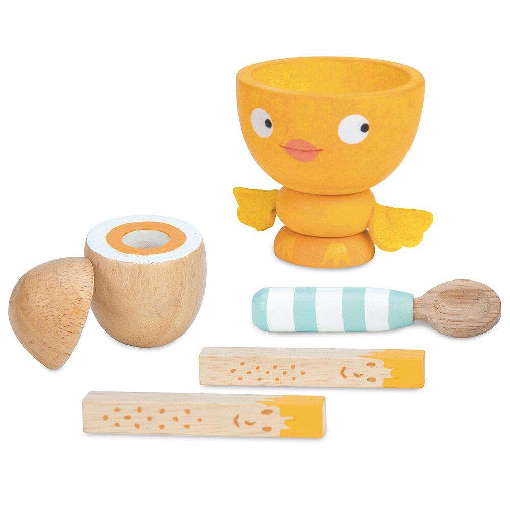 英國 Le Toy Van 角色扮演系列-英式經典蛋杯木質玩具組(TV315)