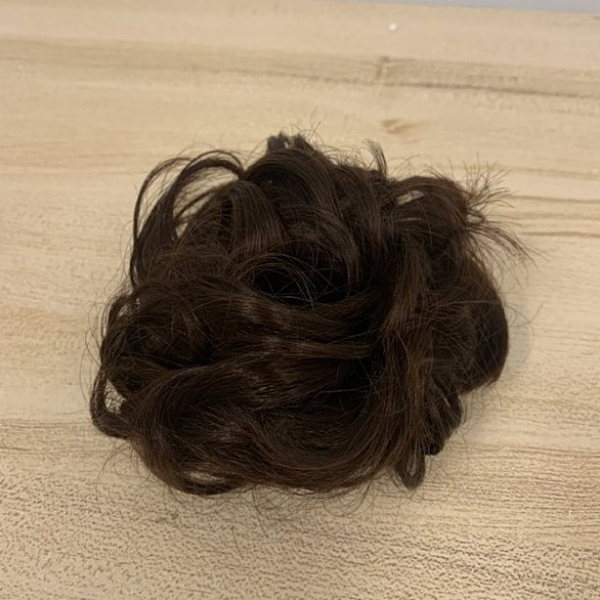 迷你微捲蓬鬆公主丸子頭髮圈假髮禮物(777-9401)
