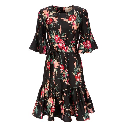 Short Curly Swing Dress