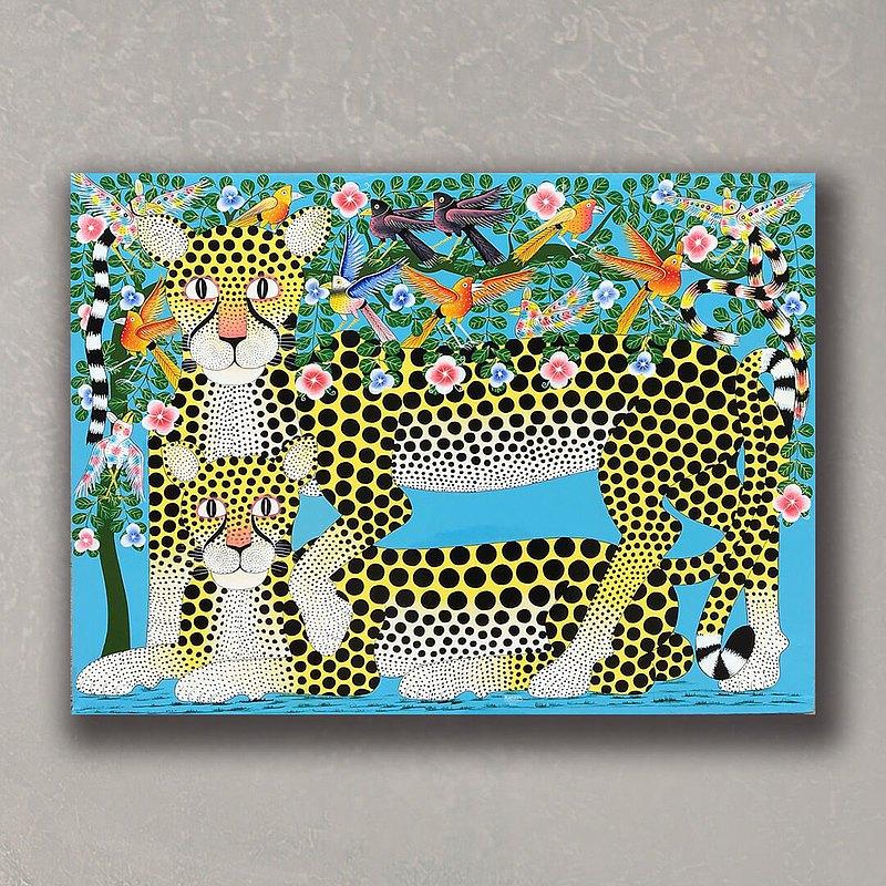 T998 獵豹情侶/非洲TingaTinga原畫作