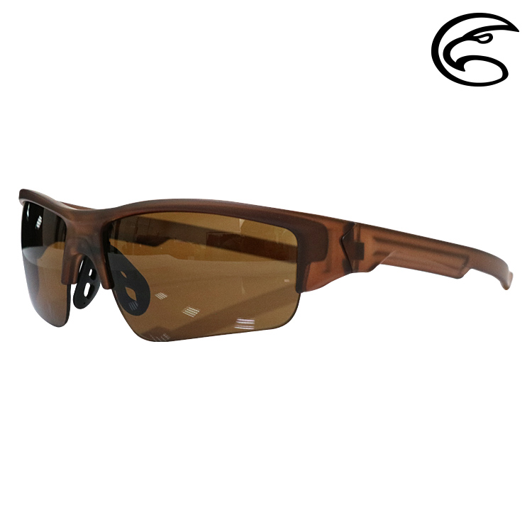ADISI 偏光太陽眼鏡 AS16182 / 霧透明 (茶框)