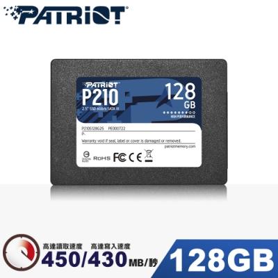 Patriot美商博帝 P210 128GB 2.5吋 SSD固態硬碟