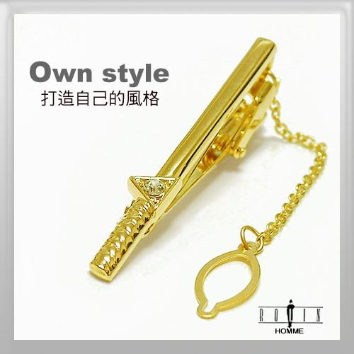 【羅林領帶ROLIN】頂級時尚領夾(金色) 男士流行配件B68(ag) ~全金色~~適合婚禮喜宴~大方喜氣