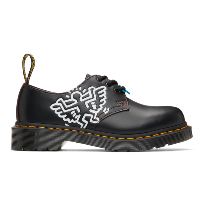 Dr. Martens 黑色 Keith Haring 联名 1461 德比鞋