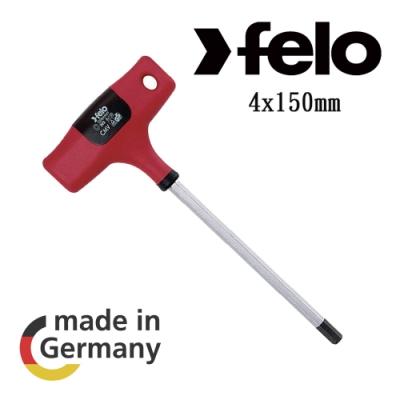 【FELO】T型膠柄六角板手4X150mm