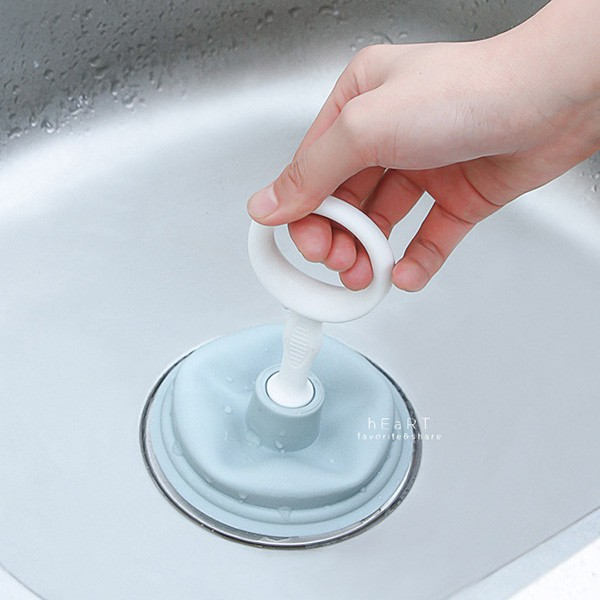 [現貨] 水槽排水孔堵塞疏通器 不挑色 排水孔疏通器 通排水孔器 疏通吸盤 吸把