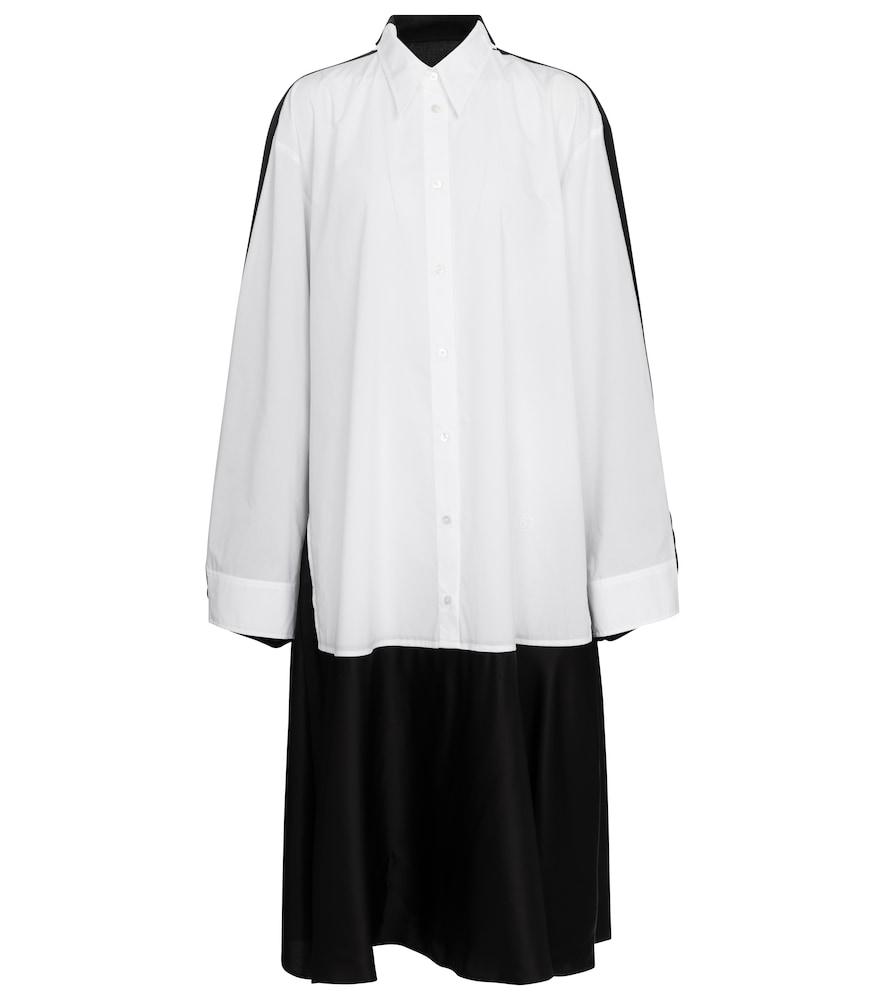 Layered cotton-blend midi dress