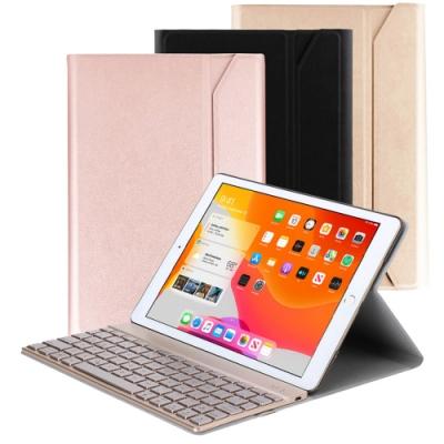 Powerway for iPad 10.2吋(iPad 7 /iPad 8)平板專用尊榮型二代鋁合金藍牙鍵盤/皮套