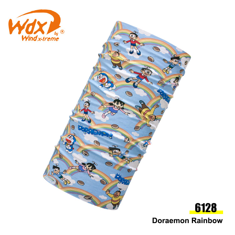 Wind x-treme 兒童哆啦A夢多功能頭巾 COOL Wind 6128 / 城市綠洲 ( 抗菌、透氣、圍領巾、西班牙)
