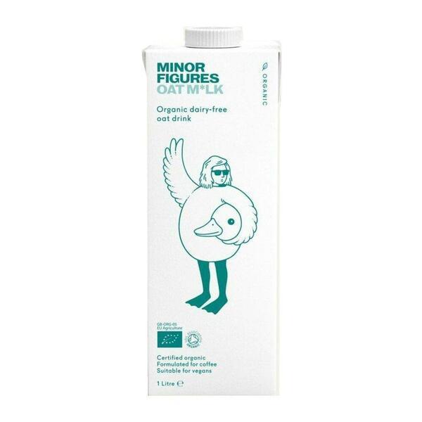 脂肪含量低,含有豐富維生素*【Minor Figures】 英國小人物燕麥奶 - 濃厚版 (六入組)