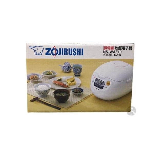 ZOJIRUSHI 象印 微電腦電子鍋 NS-WAF10 6人份 原廠保固 黑皮TIME 10178