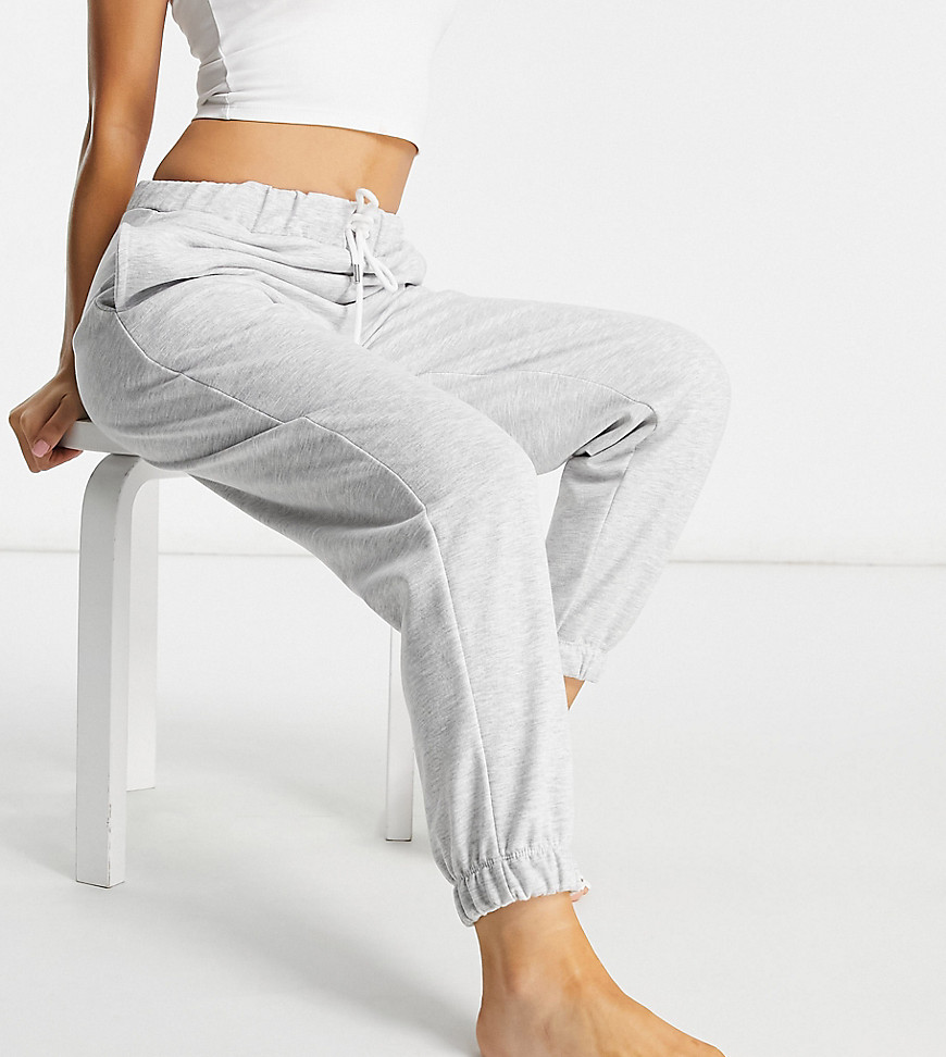ASOS DESIGN Petite lounge brushed jogger in grey marl