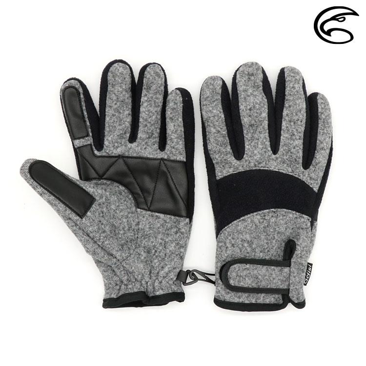 ADISI 防風保暖手套 AS20022 / 灰色 / 黑色 (M-L)