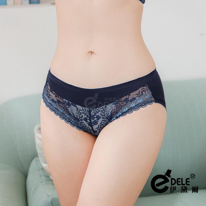 【伊黛爾】春日幻境蕾絲內褲 M/L/XL (藍) -【8882】