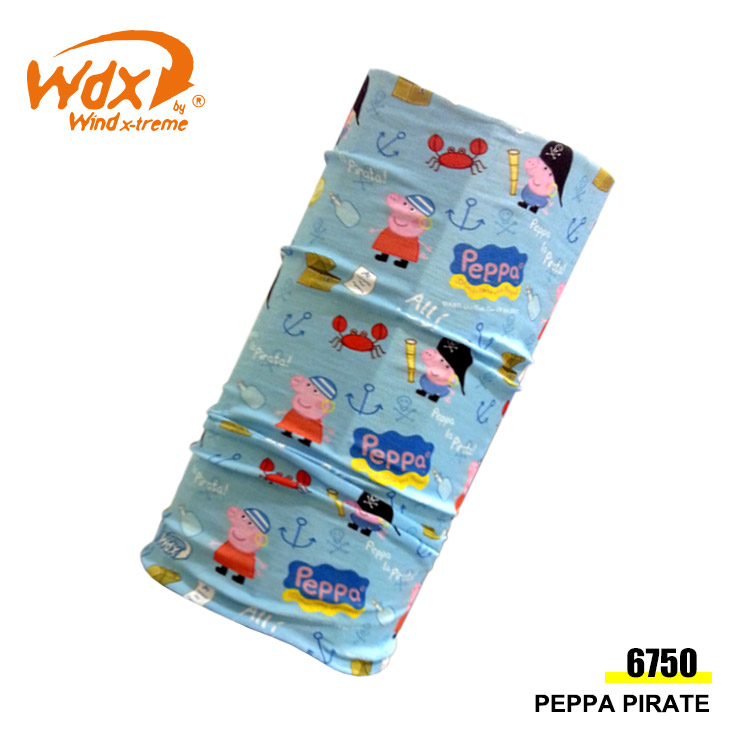 Wind x-treme 兒童粉紅豬多功能頭巾 COOL Wind 6750 / 城市綠洲(抗菌、透氣、圍領巾、西班牙)