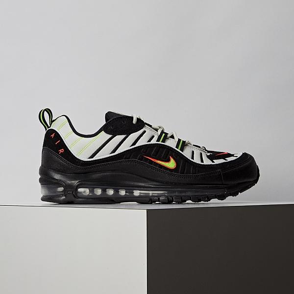 Nike Air Max 98 男鞋 灰黑 復古 氣墊 慢跑鞋 休閒鞋 640744-015