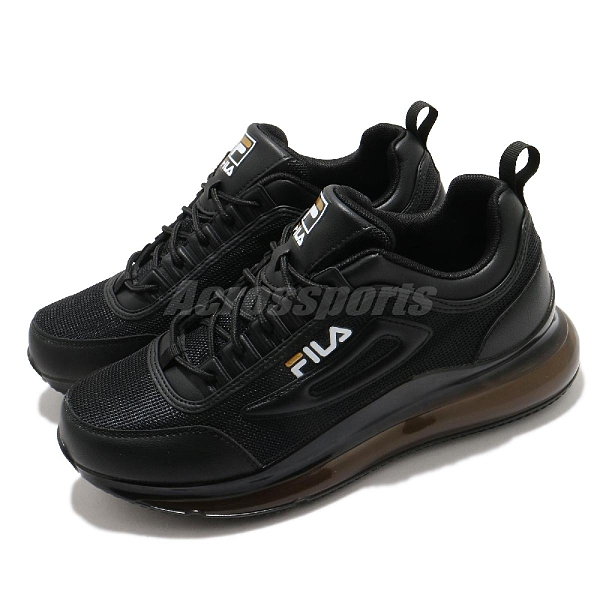 Fila 休閒鞋 J327V 全黑 全氣墊 大氣墊 運動鞋 黑魂 男鞋 百搭款 【ACS】 1J327V081