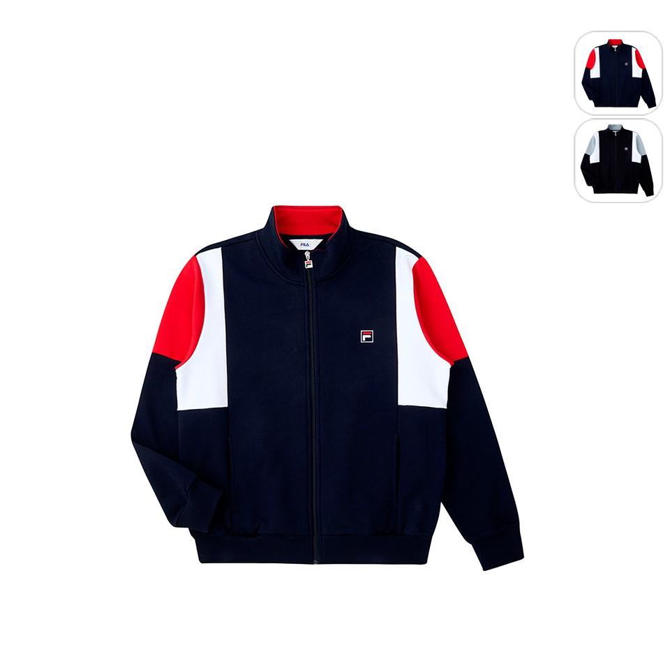 【FILA】男性 針織外套-丈青 1JKU-5515-NV