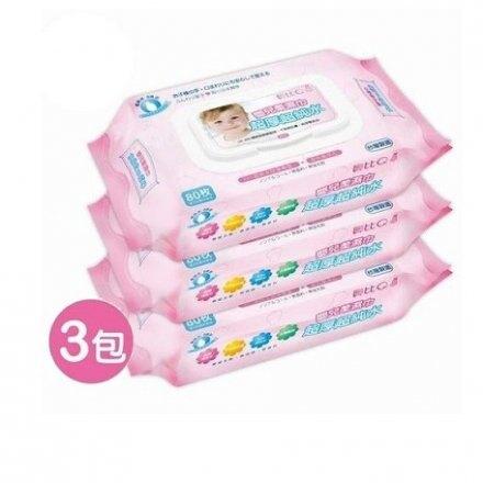 貝比Q超純水嬰兒柔濕巾 3包入 溼紙巾 濕紙巾