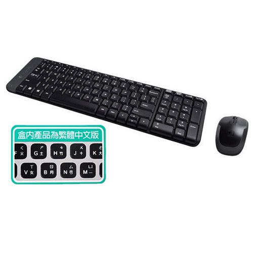 Logitech羅技 無線鍵盤滑鼠組合MK220【愛買】