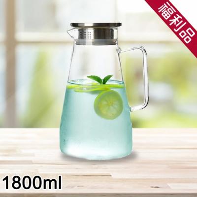 (福利品)日本FOREVER 耐熱玻璃把手水壺1800ML