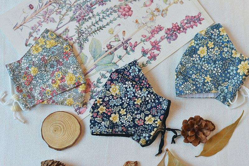 3片迷你花園面膜-手工製作的4層100%雙紗棉