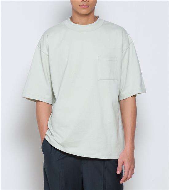 COP0045-中高領短袖重磅TEE