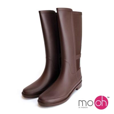 mo.oh長筒拚色防水橡膠雨鞋