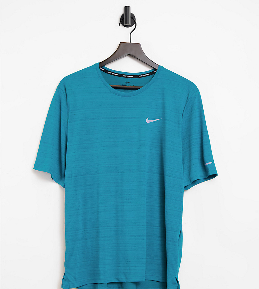 Nike Running Tall Miler t-shirt in blue