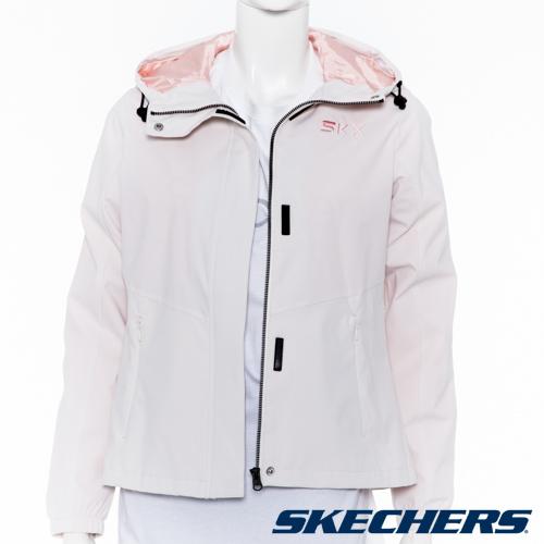 SKECHERS 女連帽風衣外套 - L120W062-00F1