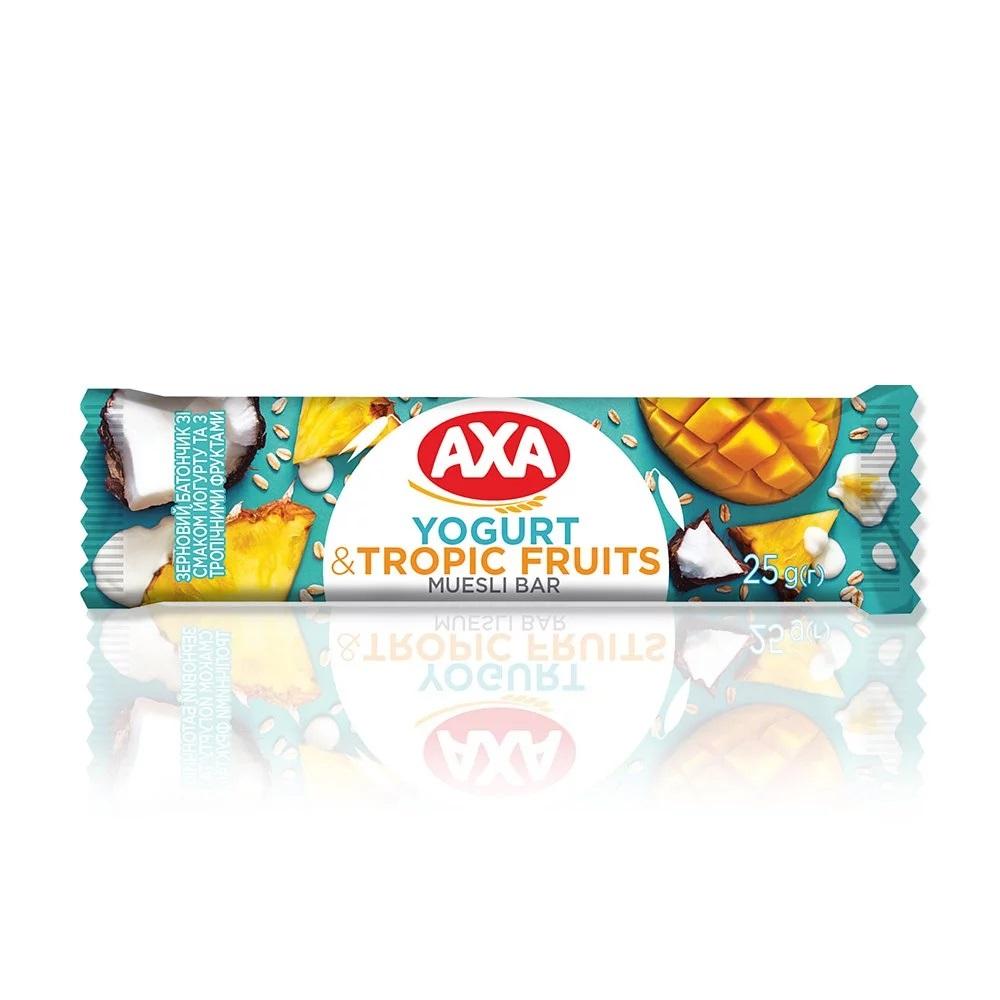 [瑞典 AXA] 熱帶水果優格穀物棒 (25g/支) (奶素)