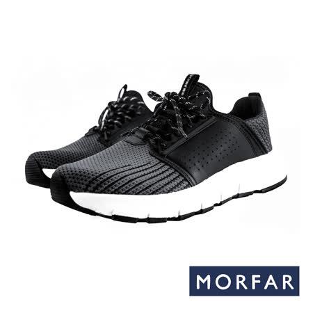 【MORFAR】質感真皮造型飾片休閒鞋 BOLZANO.8 (深灰)
