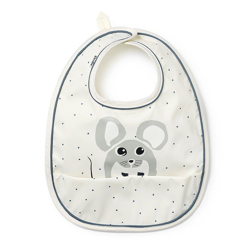 【瑞典ELODIE DETAILS】防水口袋圍兜 - Forest Mouse Max 小福鼠