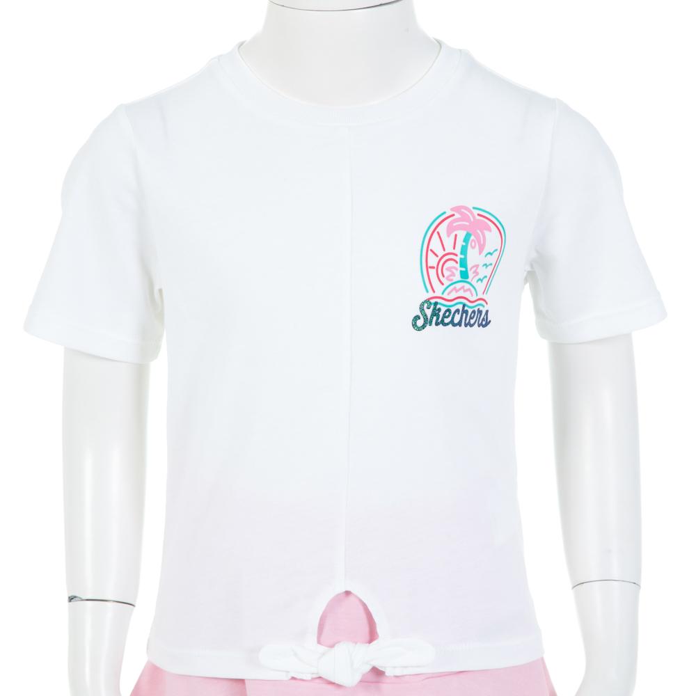 SKECHERS 女童短袖衣 - L319G038-0019